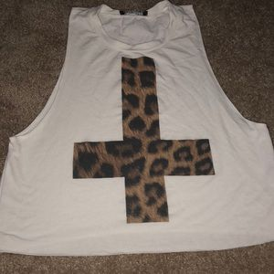 Leopard Cross Muscle Tank